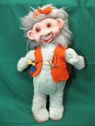 Ultra Rare Vintage Timely Toys Troll Doll 18 Neanderthal People Wow