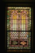 + 120 Year Old Opalescent Stained Glass Window 34 W X 65 Ht. + Chalice Co.n