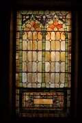 + 3 Nice Old Opalescent Stained Glass Windows, All 120 Years Old 1 Of 3 +