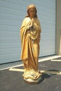 + Large Antique Statue Of Mary + The Immaculate Conception + 46 Ht. +