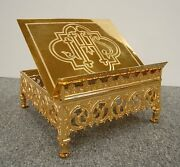 + Traditional 24k. Goldplated Missal Stand +chalice Co.+ 214