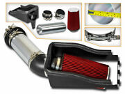 Heat Shield Cold Air Intake + Red Filter For 00-03 Excursion 7.3 V8 Turbo Diesel