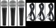 3 New Shure Sm58 Vocal Mics And Cables Authorised Dealer Make Offer Buy It Now