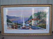 Kerry Hallamand039s Crescent Bay Exceptional Large Signed Serigraph Frame 40 X 64