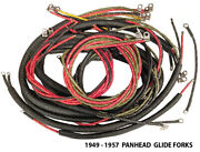 Pan Nos Style Wiring Harness Complete For Harley 1949 - 1957 Glide Fork Panhead