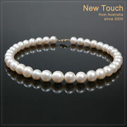 Aa+ Grade 1113mm White Pearl Necklace With 14k Clasp