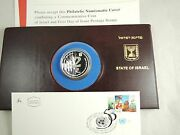 Israel 1995 Fao Philatelic Numismatic Cover W/proof Silver Coin 2 Sheqel And Fdc