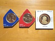2012 P D S Sacagawea Dollar Proof Native American 3 Coin Set Sealed Mint Cello
