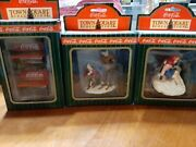Coca-cola Town Square Collection Vintage- Boxed Skaters Pause Skiiers Bench