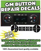 Gm Button Decals Stickers Climate Acadia Traverse Tahoe Yukon 9 Sets