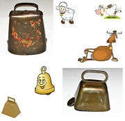 Vintage. 1 Blum Co. Holstein Bell And 1 Metal Bell. Cow Or Sheep Bells. Usa Seller