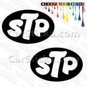 2 Of 5 Stp Fuel Oil Additives /b Performance Car Vinyl Stickers Decals Die Cut