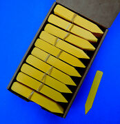 Yellow Plastic Plant Stakes Labels Nursery Tags - Made In Usa 4 X 5/8
