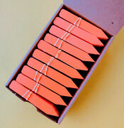 Orange Plastic Plant Stakes Labels Nursery Tags Made In Usa - 4 X 5/8