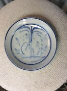 Chinese Ming Swatow Trade Export Ware Cobalt Blue White Floral Plate