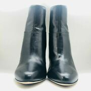 Jimmy Choo London Kid Leather Ankle Boots Size 39 - Black