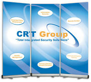 Trade Show Display Backdrop Wall 3 Retractable Banner Stands + Banners And Design