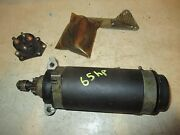 70s Solenoid And Starter Motor And Rope Mercury Marine 650 65 75 Hp Outboard 73 74