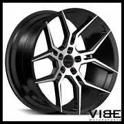 20 Giovanna Haleb Machined Black Concave Wheels Rims Fits Cadillac Cts V Coupe
