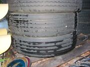 No Shipping - 2 Used Take Off Truck Tires 795/75r22.5 Virgin Rubber