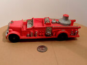Auburn Red Rubber Fire Truck 2 500 On Back And Front Fender Plate Area 10840
