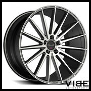 20 Gianelle Verdi Machined Black Concave Wheels Rims Fits Cadillac Cts V Coupe