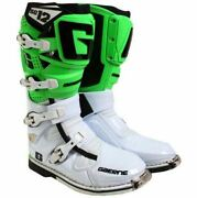 Gaerne Sg12 Mx Boots Green/white, Motocross, Enduro, Trail And Off Road Boots