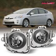 For 2010-2011 Toyota Prius Pair Oe Style Fit Fog Light Bumper Kit Clear Lens