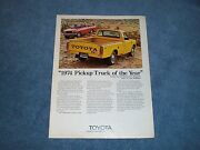 1974 Toyota Hi-lux Pickup Truck Vintage Ad ...truck Of The Year