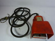 Atlas/line Master 936-swhox Foot Pedal Switch W/ Cover/connector Cable Used