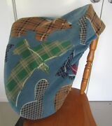 Horse Saddle Cover Blue Indian Print And Free Embroidery Aussie Made Protection