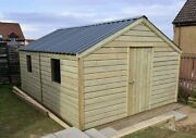 High Quality Premium Timber Garden Shed Pressure Treated Steel Roof Heavy Duty