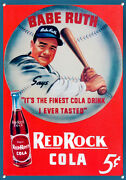 Babe Ruth, Red Rock Cola,vintage Style, Metal Sign, Collectable, No.624