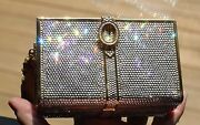 Judith Leiber Crystal Stack Of Books Classic Bag Minaudiere Clutch