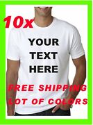 Buy 10 Custom Personalized T Shirts, 3 Caps And 2 Visors