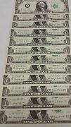 1963a 1.00 Gem Uncirculsted Federal Reserve Note Star Complete Bank Set
