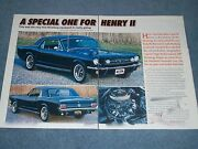 1965 Mustang Coupe Hi-po Article A Special One For Henry Ii 1965