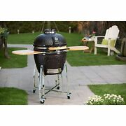 Kamado Grill Pro Ceramic Charcoal Cover Vision Classic Char Dome Smoker Barbecue