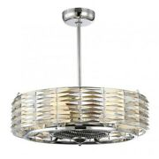 Savoy House Taurus 6 Light Air Ionizing Fan Dand039lier In Polished Chrome