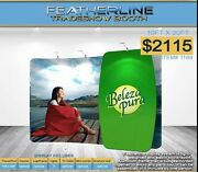 Featherline Fabric Trade Show Display With Carry Case Model 1189