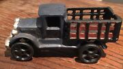 Toy Stake Bed Truck Cast Iron Toy Car. 5-7/8 Inch