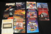 Lot Of 58 Vintage Lionel Electric Trains Magazines And Product Catalogs 1976-1996
