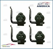 4 New Oe Spec 1998-2011 Lincoln Town Car Muffler Rubber Hangers With Bracket