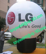 Advertising Inflatable Lg Balloon With Ul Blower 12ft,on Outdoor Event Display