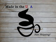 Coffee Cup Sign Business Decor Coffee Shop Art Metal Wall Sign Kitchens1195