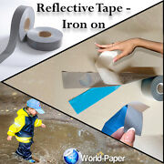 Iron On Reflective Tape Light Weight Silver Reflective Fabric 2 X 656 Ft 200m