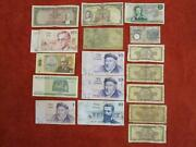 Lot Of 17 World Paper Money Banknotes Bills Israel Europe Circulated Old