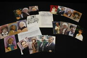 Lot Of Dr Who Signed Bbc Larkfield Autographed Post Cards And 1982 Comicon Book