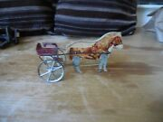 Vintage Gibbs Toy Pony Racing Cart Paper On Wood Works Great