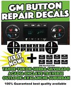 Gm Climate Button + Navigation Worn Peeling Button Repair Stickers Decals